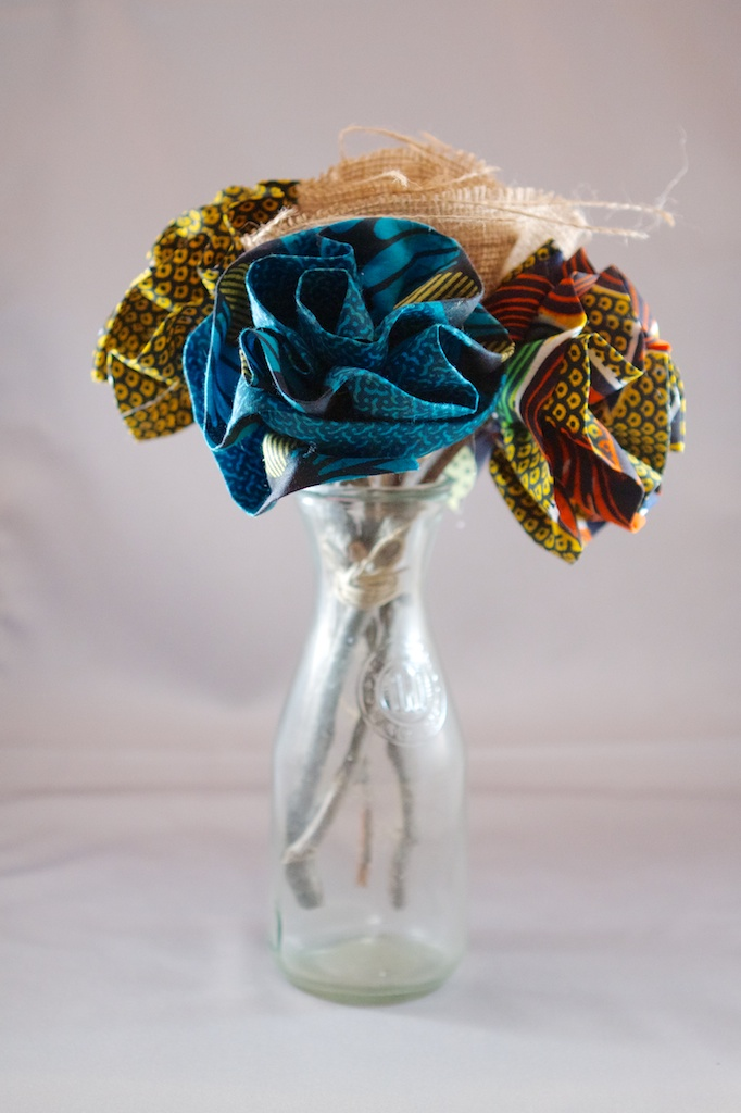 African Fabric Flower Bouquet Large Jeremy And Lea